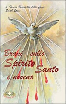 Brani sullo Spirito Santo e novena - Edith Stein - copertina