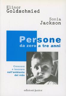 Antondemarirreguera.es Persone da zero a tre anni. Crescere e lavorare nell'ambiente del nido Image