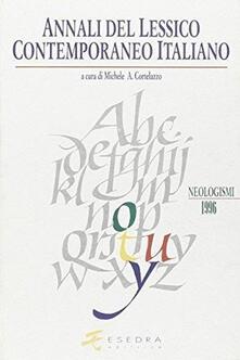 Winniearcher.com Annali del lessico contemporaneo italiano. Neologismi (1993-1994) Image