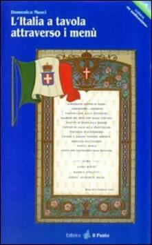 L' Italia a tavola attraverso i menù - Domenico Musci - copertina
