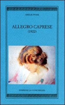 Allegro caprese - Amelie Posse - copertina