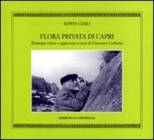 Flora privata di Capri - Edwin Cerio - copertina
