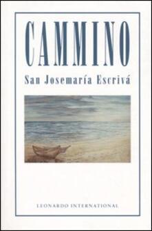 Cammino - Josemaría Escrivá de Balaguer - copertina