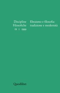 Discipline filosofiche (1999) (1). Ebraismo e filosofia: tradizione e modernità