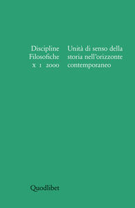 Discipline filosofiche (2000) (1). Unità di senso della storia nell'orizzonte contemporaneo