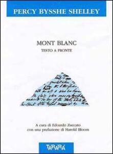 Mont Blanc. Testo originale a fronte