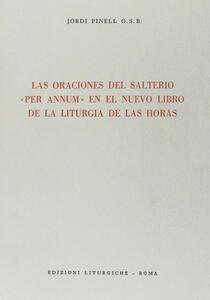 Las oraciones del salterio «Per annum» en el nuevo libro de la liturgia de las horas