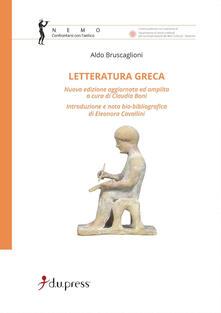 Letteratura greca - Aldo Bruscaglioni - copertina