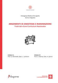 Winniearcher.com Argomenti di anestesia e rianimazione. Tratti dal «core curriculum nazionale» Image