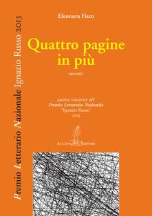 Quattro pagine in più - Eleonora Fisco - copertina