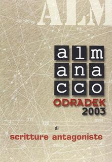Antondemarirreguera.es Almanacco Odradek 2003. Scritture antagoniste Image