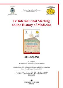 Fourth International meeting on the history of medicine (figline Valdarno, 21-23 ottobre 2007)