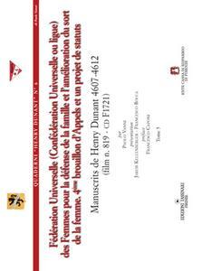 Fédération universelle (ConfédPration universelle ou ligue) des femmes pour la défense de la famille et l'amélioration du sort de la femme... Con CD-ROM