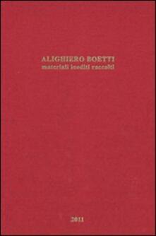 Ristorantezintonio.it Alighiero Boetti. Materiali inediti raccolti Image