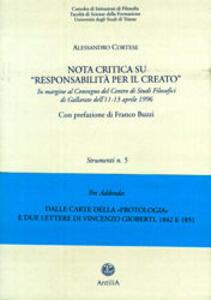 Nota critica su «Responsabilità per il creato»