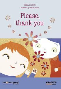 Please, thank you. Ed. inglese - Vilma Costetti - copertina
