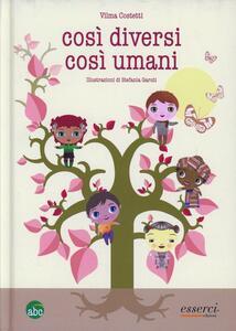 Così diversi così umani - Vilma Costetti - copertina