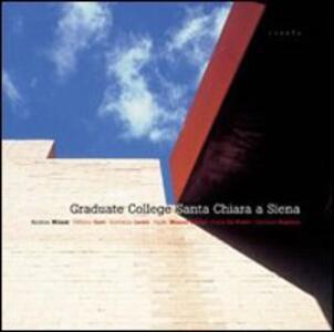 Graduate College Santa Chiara a Siena - Andrea Milani - copertina