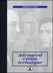 Advanced violin technique - Francesco Sfilio - copertina