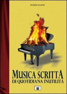 Musica scritta di quotidiana inutilità - Davide Ielmini - copertina
