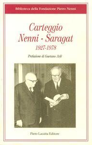 Carteggio Nenni Saragat 1927-1978 - copertina