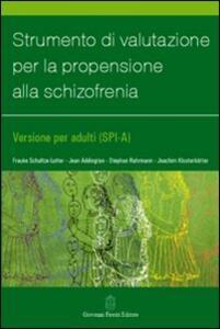 Strumento di valutazione per la propensione alla schizofrenia - copertina