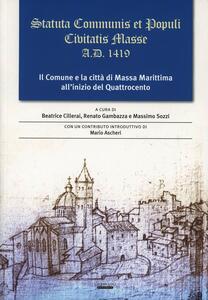 Statuta Communis et populi civitatis Masse a. D. 1419 - copertina