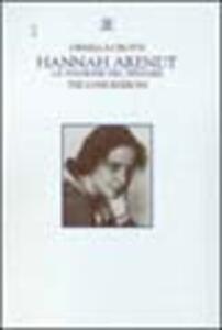 Hannah Arendt. La passione del pensare - Ornella Crotti - copertina