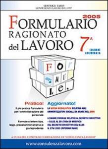 Formulario ragionato del lavoro 2005. Con CD-ROM - copertina