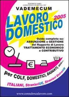 Lavoro domestico. Guida all'assunzione e gestione di colf, badanti... - copertina