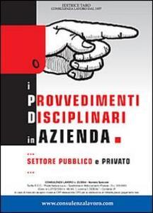 I provvedimenti disciplinari in azienda - Fabrizio Grossi - copertina