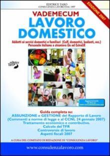 Vademecum lavoro domestico - Massimo Marini - copertina