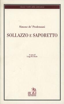 Sollazzo e Saporetto - Simone De' Prodenzani - copertina