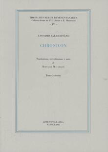 Chronicon - Anonimo salernitano - copertina