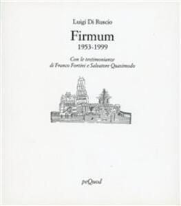 Firmum. Poesie (1953-1999)