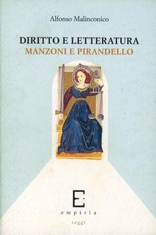 Librisulladiversita.it Diritto e letteratura. Manzoni e Pirandello Image