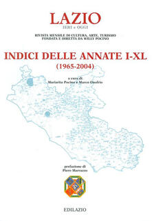 Filmarelalterita.it Lazio ieri e oggi. Rivista mensile di cultura, arte, turismo. Indice delle annate (1965-2004) Image