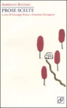 Prose scelte - Ambrogio Bazzero - copertina