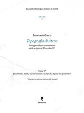 Topografia di Atene. Sviluppo urbano e monumenti dalle origini al III secolo d. C.. Vol. 3: Quartieri a nord e a nord-est dell'Acropoli e Agora del Ceramico.