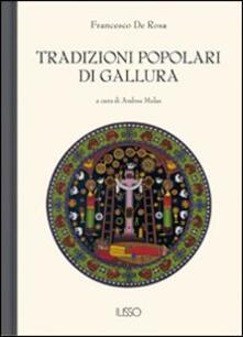 Tradizioni popolari di Gallura - F. De Rosa - copertina