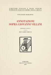 Annotazioni sopra Giovanni Villani