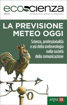 La previsione meteo oggi. Scienza, professionalità e usi della meteorologia nella società della comunicazione - Arpae Emilia-Romagna,Ecoscienza - ebook