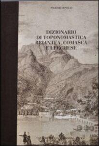 Dizionario di toponomastica briantea, comasca e lecchese
