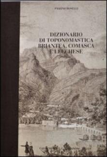 Winniearcher.com Dizionario di toponomastica briantea, comasca e lecchese Image