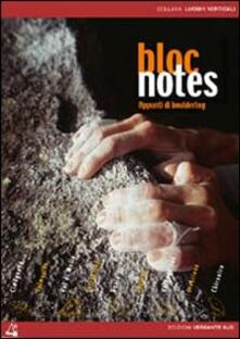 Squillogame.it Bloc notes. Appunti di bouldering. Con DVD Image