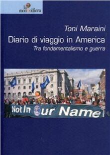 Diario di viaggio in America - Toni Maraini - copertina