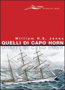 Quelli di Capo Horn - William H. Jones - copertina
