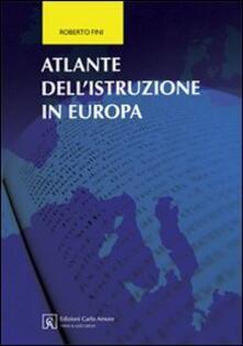 Atlante dell'istruzione in Europa - Roberto Fini - copertina