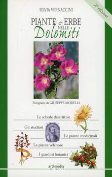 Piante e erbe nelle Dolomiti - Silvia Vernaccini - copertina