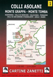 3tsportingclub.it Colli asolani. Monte Grappa, monte Tomba, Monfenera, colli di Monfumo, Valcavasia, Possagno, colli di San Zenone e Mussolente, Asolo, Maser 1:30.000 Image